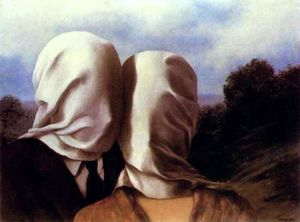 Rene Magritte - The Lovers I