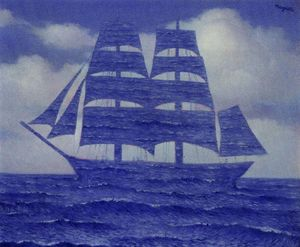 Rene Magritte - The seductive - (Famous paintings reproduction)