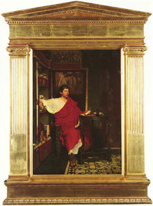 Lawrence Alma-Tadema - A Roman Scribe Writing Dispatches