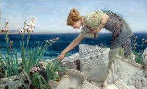 Order Famous Paintings Reproductions : Among the Ruins by Lawrence Alma-Tadema (1836-1912, Netherlands) | WahooArt.com