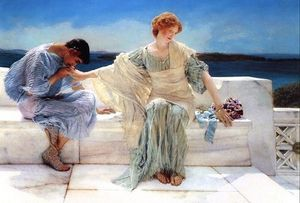 Lawrence Alma-Tadema - Ask Me No More - (Famous paintings)