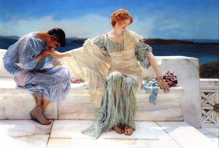 Ask Me No More, 1906 by Lawrence Alma-Tadema (1836-1912, Netherlands) | Reproductions Lawrence Alma-Tadema | WahooArt.com