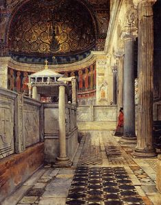 Lawrence Alma-Tadema - Interior of the Church of San Clemente, Rome