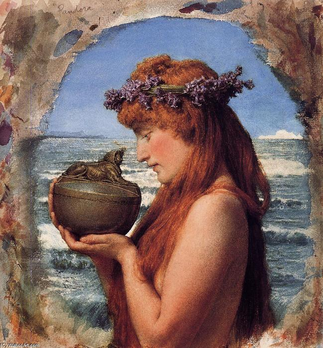 Order Museum Quality Reproductions : Pandora, 1881 by Lawrence Alma-Tadema (1836-1912, Netherlands) | WahooArt.com
