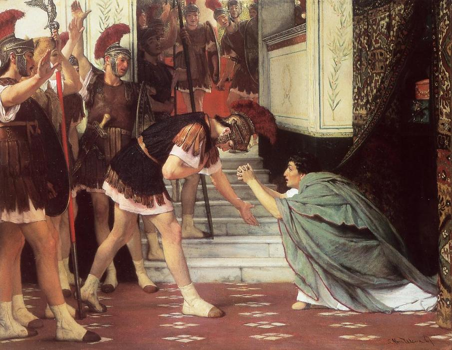 Proclaiming Claudius Emperor, 1867 by Lawrence Alma-Tadema (1836-1912, Netherlands) | Oil Painting | WahooArt.com