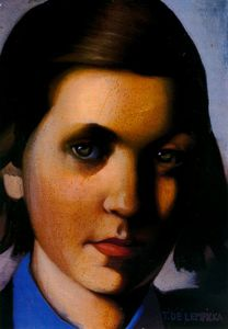 Jeune fille la fen tre oil by tamara de lempicka 1898 for Fille a la fenetre