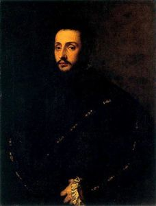 Tiziano Vecellio (Titian) - A Bearded Young Man