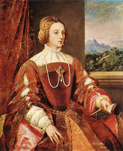 Tiziano Vecellio (Titian) - Empress Isabel of Portugal