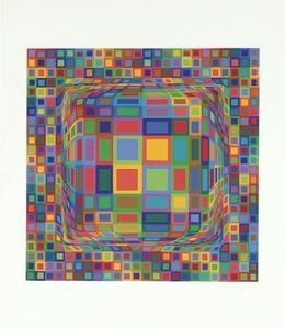 Victor Vasarely - Abstract Composition 30