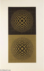 Victor Vasarely - Abstract Composition 31