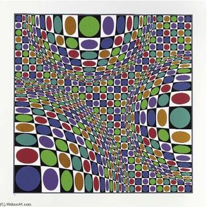 Victor Vasarely - Abstract composition 4
