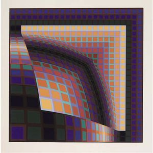 Victor Vasarely - Abstract composition 6