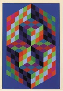 Victor Vasarely - Untitled 21