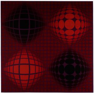 Victor Vasarely - VB - VB ROUGE