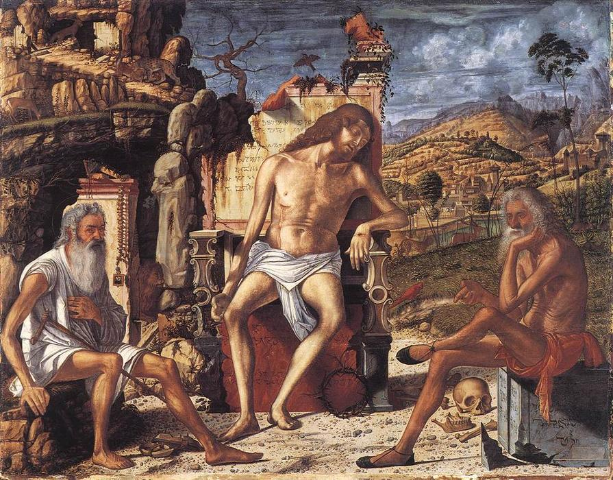 The Meditation on the Passion, Oil by Vittore Carpaccio (1465-1526, Italy)