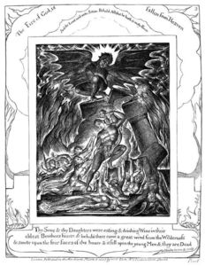 William Blake - Job´s sonns and daughters destroyed