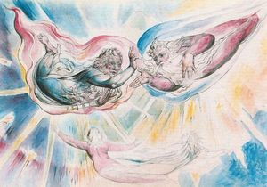 William Blake - San Pedro and Santiago with Dante and Beatrice
