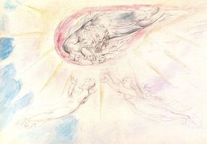 William Blake - San Pedro appears to Dante and Beatrice
