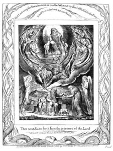 William Blake - Satan going forth from the presence of the Lord 2