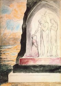 William Blake - The angel marking the forhead of Dante