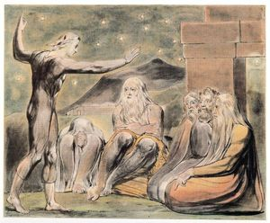 William Blake - The wrath of Elihu