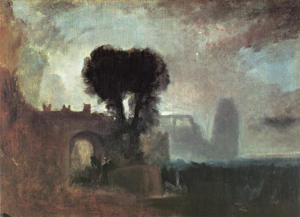 Archway with Trees by the Sea, 1828 by William Turner (1775-1851, United Kingdom) | Reproductions William Turner | WahooArt.com