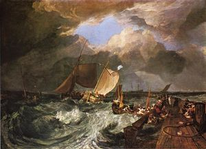William Turner - Calais Pier, with French Poissards Preparing for Sea. an English Packeet Arriving