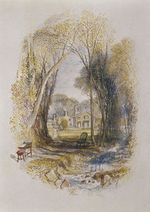 William Turner - Chiefswood Cottage at Abbotsford