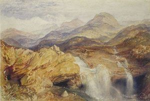 William Turner - Falls near the Source of the Jumna in the Himalayas