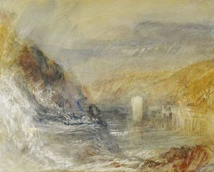 William Turner - Falls of the Rhine at Schaffhausen, Side View