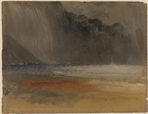 William Turner - Heaped thundercloud over sea and land