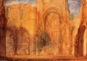 William Turner - Interior of Fountains Abbey, Yorkshire