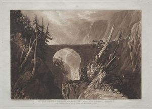 William Turner - Little Devil-s Bridge over the Russ, above Altdorft, Swiss