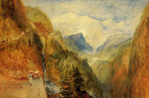 William Turner - Mont Blanc from Fort Roch, Val D-Aosta