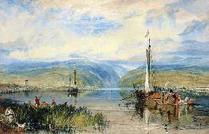 William Turner - Neuwied and Weise Thurn, with Hoch's Monument on the Rhine, looking towards Andernach