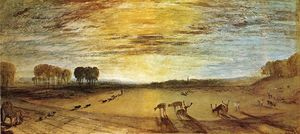 William Turner - Petworth Park, Tillington Church in the Distance