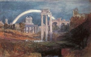 William Turner - Rome, The Forum with a Rainbow