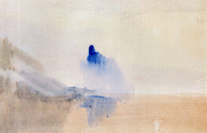 William Turner - Study Of A Castle By A Lake