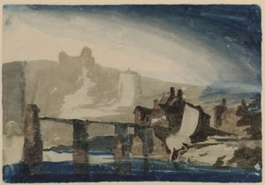 William Turner - Study of Chepstow Castle