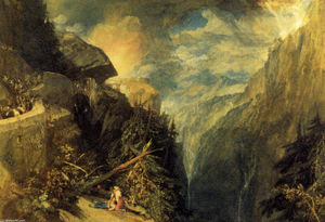 William Turner - The Battle of Fort Rock, Val d'Aoste, Piedmont