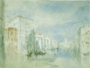 William Turner - The Palazzo Balbi on the Grand Canal, Venice