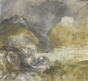 William Turner - Vèrres in the Val d'Aosta