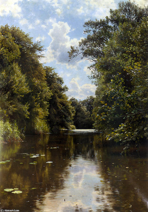 A Summer`s Day by Peder Mork Monsted (1859-1941, Denmark) | Painting Copy | WahooArt.com