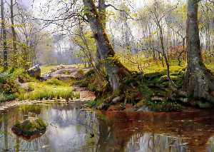 Peder Mork Monsted - A Tranquil Pond
