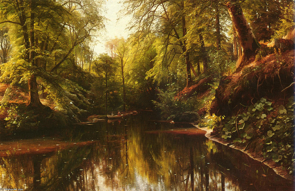 At Seaby by Peder Mork Monsted (1859-1941, Denmark) | Painting Copy | WahooArt.com