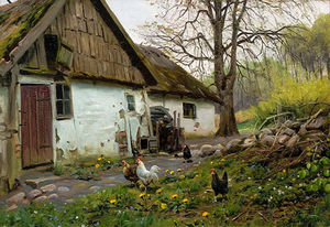 Peder Mork Monsted - Bromolle Farm with Chickens
