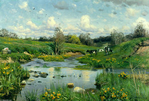 Peder Mork Monsted - Cows Grazing