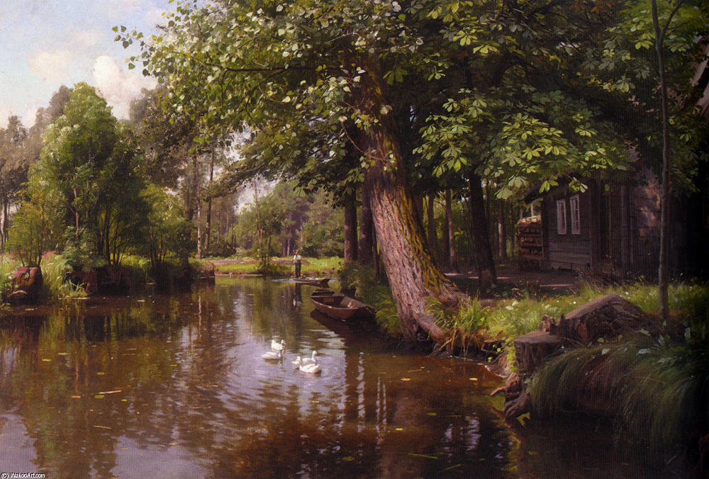Flodbred by Peder Mork Monsted (1859-1941, Denmark) | Painting Copy | WahooArt.com