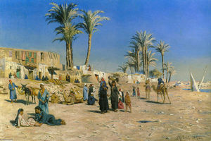Peder Mork Monsted - On the Outskirts of Cairo