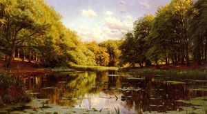 Peder Mork Monsted - River Landscape 2
